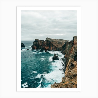 Coast Line Of Madeira Island Art Print