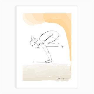 Crow Pose Bakasana Art Print