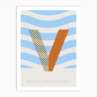 V Typeface Alphabet Art Print