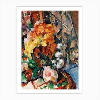 The Flowered Vase, Paul Cézanne Art Print