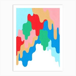 Drippy Trippy Art Print