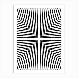 Converge Black Art Print