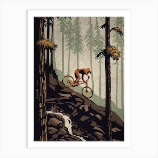 Think Outside Mountain Bike Art Print