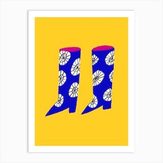 Fancy Wellies Art Print