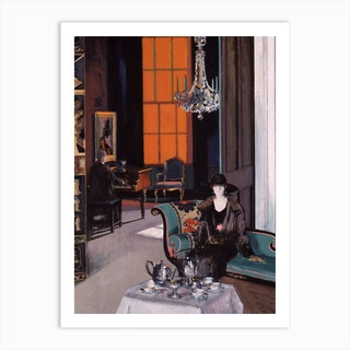 Interior: The Orange Blind, c.1928 by Francis Campbell Boileau Cadell Art Print
