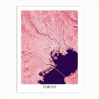 Tokyo Pink Purple Art Print