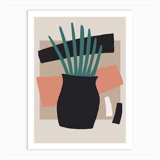 Pot Plant Art Print