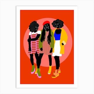 La Clique Art Print