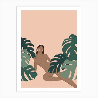 Jungle Girl 3 Art Print