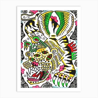 Bird Tiger Art Print