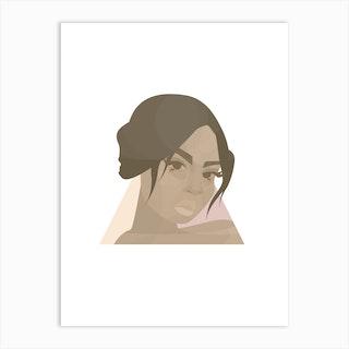 Anne Marie In A Triangle Art Print