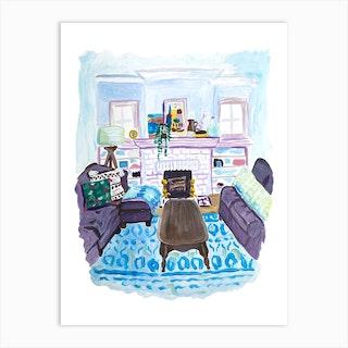 Cozy Day In Art Print