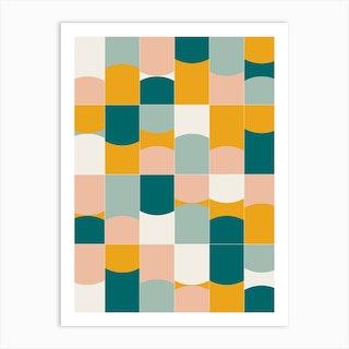 Vivid Tiles 01 Art Print