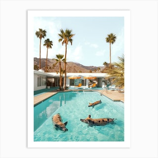 Pig Pool Party Art Print