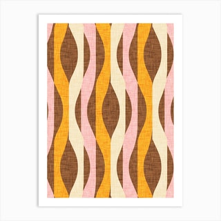 Mod Lines Yellow Art Print