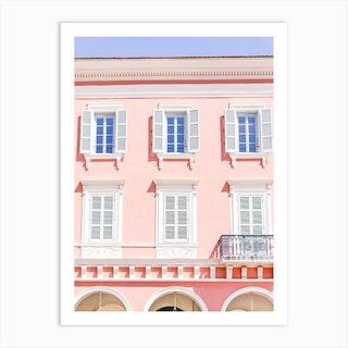 Candy Pink Windows Art Print