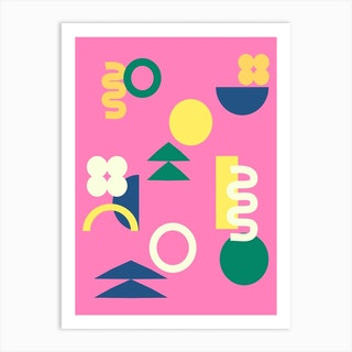 Shapes In Pink Art Print