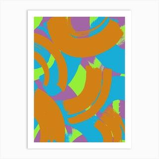 Giant Brushstrokes Art Print