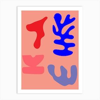 Coral Artwork Art Print