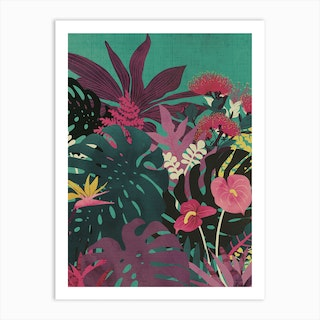 Tropical Tendencies Art Print