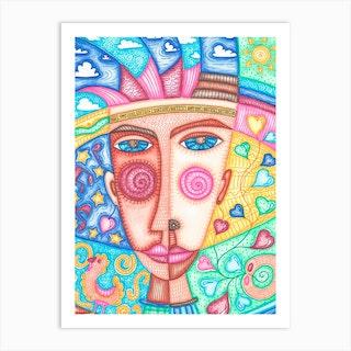 Blue Sky In Boys Eyes Art Print