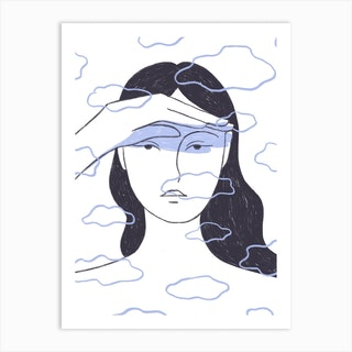Feeling Cloudy Art Print