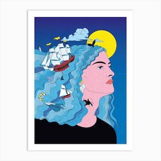 My Mind Is At Sea Art Print