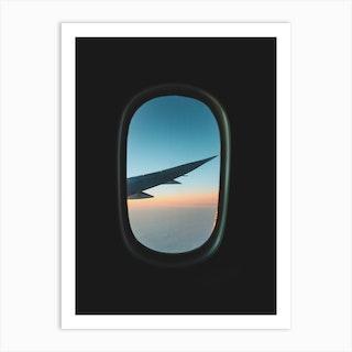 Plane Window Art Print