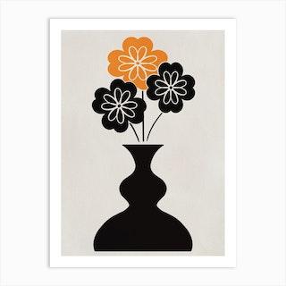 Triple Flower Art Print