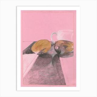 Pink Mango Art Print