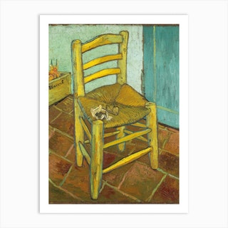 Van Goghs Chair, Vincent van Gogh Art Print
