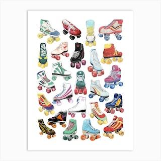 Rollerboots Art Print