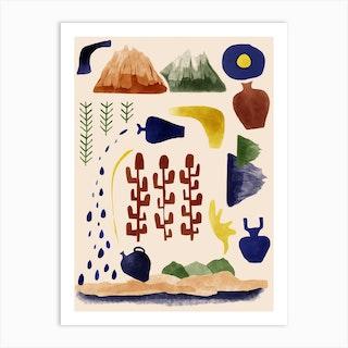 Ceremics Art Print