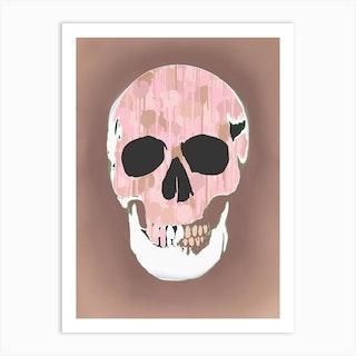Splatter Skull Ii  Art Print