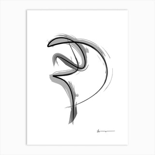 Spiral Strokes 1 Art Print