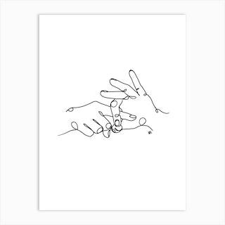 Sign Language Art Print