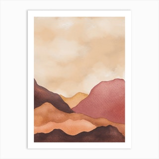 Modern Abstract Mountains 3 Art Print