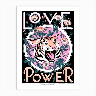 Love Is Power Art Print