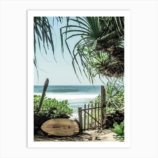 Secret Beach Art Print