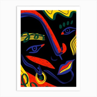 Abstract Face Art Print