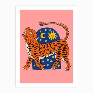 Tiger Magic Door Art Print