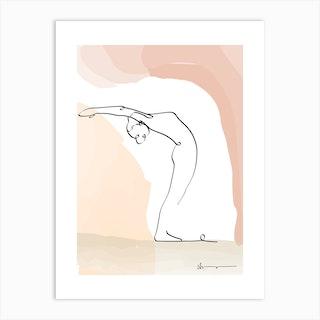 Raised Arms Pose Hastauttanasana Art Print