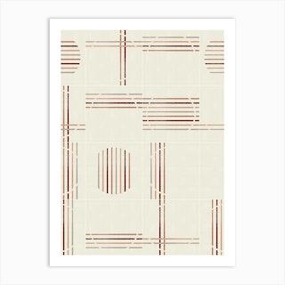 Minimal Rustic Tiles 03 Art Print