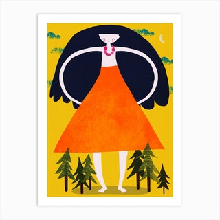 Giant Girl Art Print