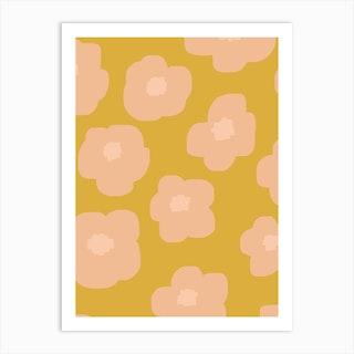 Sookie Floral Pink Yellow Art Print