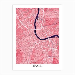 Basel Pink Purple Art Print