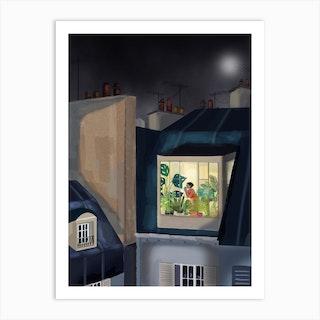Toit Paris Art Print