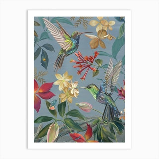 Hummingbirds Art Print
