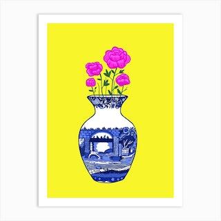 Chinoiserie Peonies Art Print