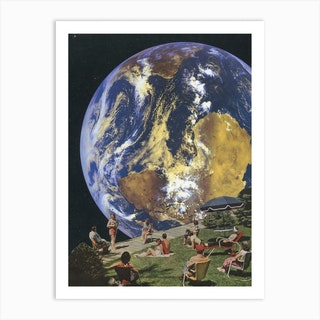 Holiday In Space Art Print